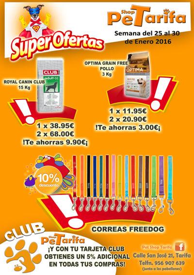 SUPER OFERTAS PET SHOP TARIFA