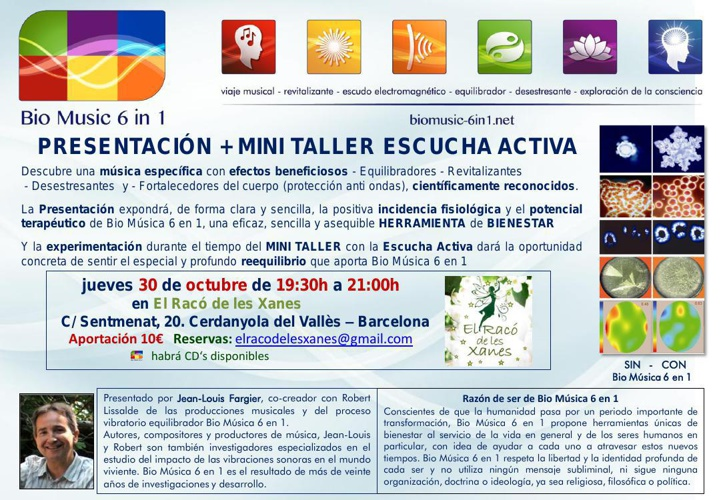 30/OCT/2014 Presentación + MINI TALLER ESCUCHA ACTIVA con BM6in1