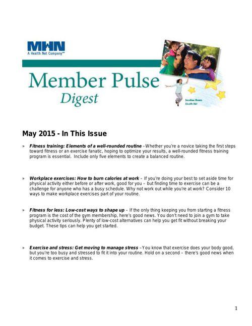 Member Pulse- May 2015 - Copy