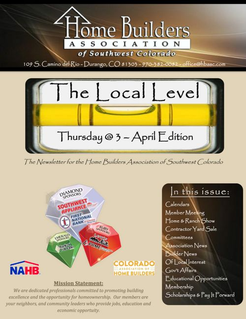 The Local Level ~ Thursday @ 3 - April Edition