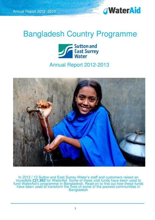 Sutton and East Surrey Water 2012/13 Bangladesh Report