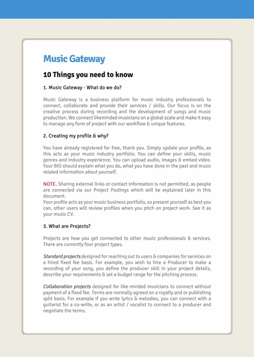 Music Gateway - 10 things you need to know