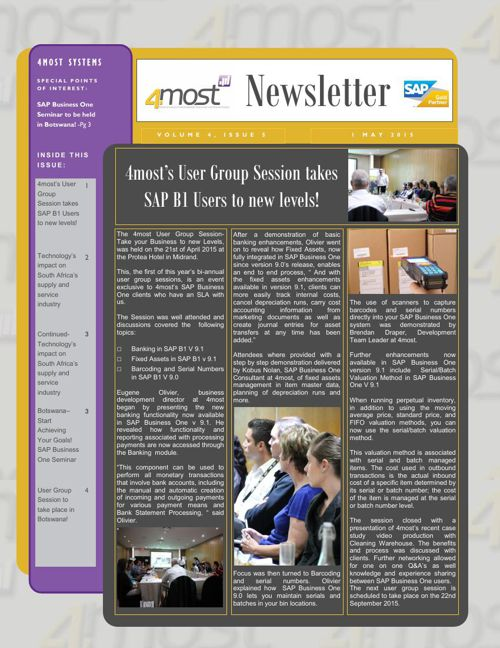 4most Newsletter May 2015