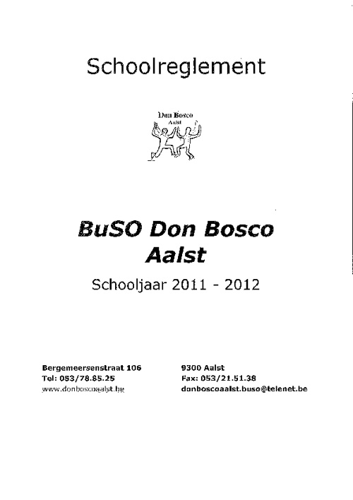 Don Bosco schoolreglement