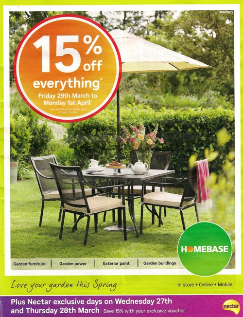 Homebase 15% Easter Weekend Sale