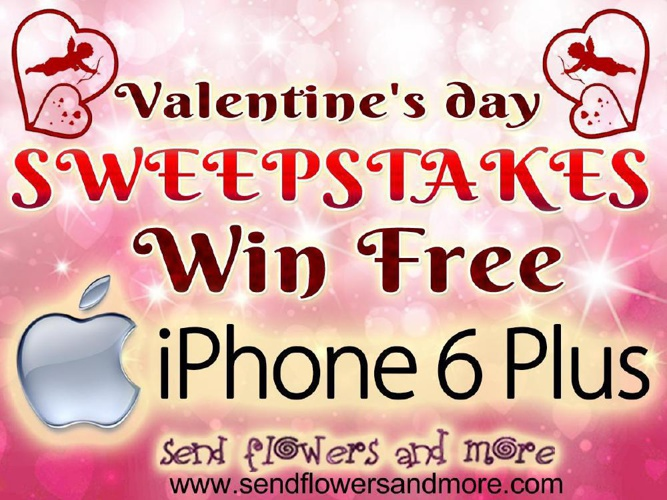 valentines day sweepstakes win I Phone 6 Plus