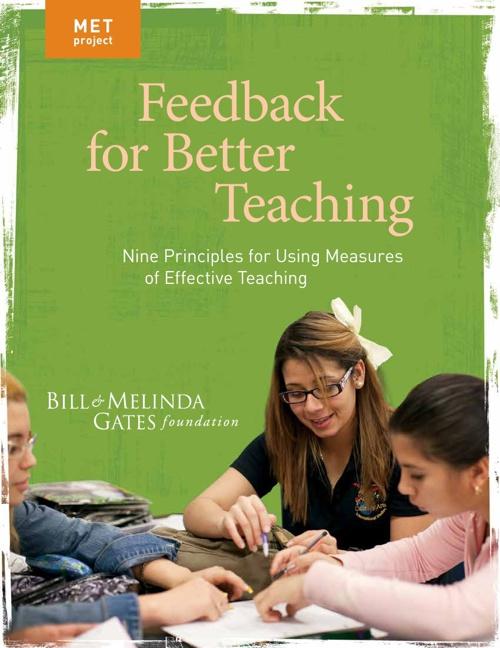 MET Project Feedback for Better Teaching Nine Principles