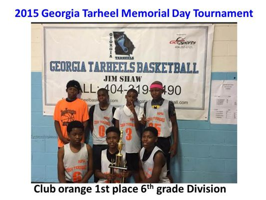 2015 Georgia Tarheel Memorial Day Basketball Tournament Results
