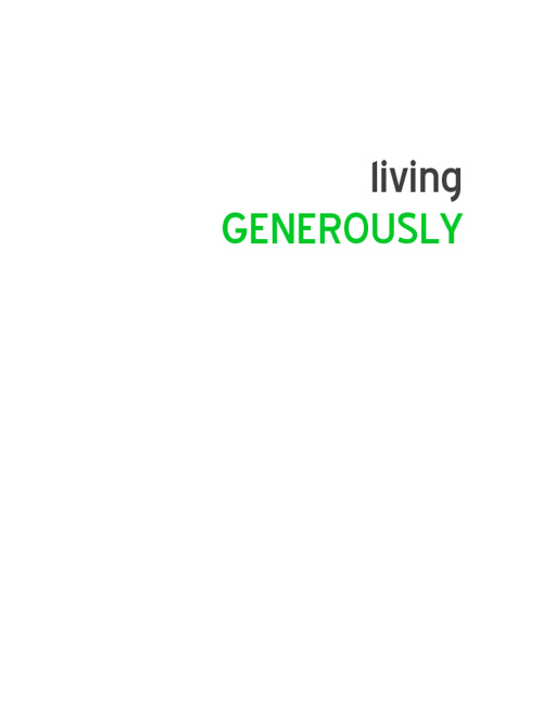 Living Generously Study Guide book mock up