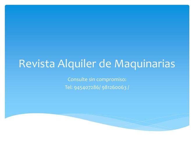 Revista Alquiler de Maquinarias