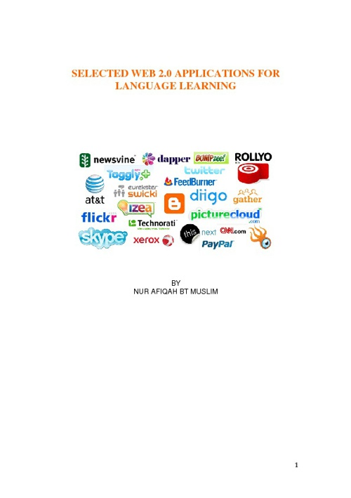 Web 2.0 applications book for language learning