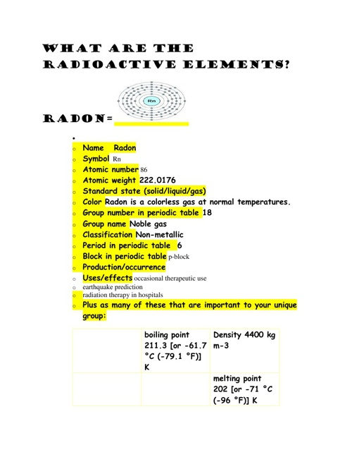 Copy of The Radioactive Elements