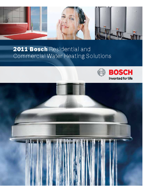2011 Bosch Residential and Commercial Water Heating Solutions