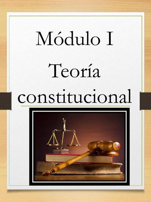 Derecho Constitucional módulo 1 para pasa hojas