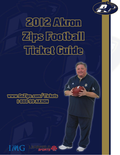 2012 Akron Football Ticket Guide