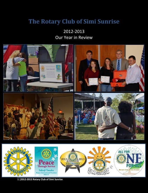 Rotary Club of Simi Sunrise 2012-13 - Our Year in Review