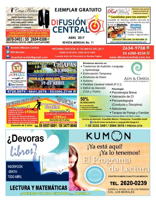DIFUSION CENTRAL EDIC. 11