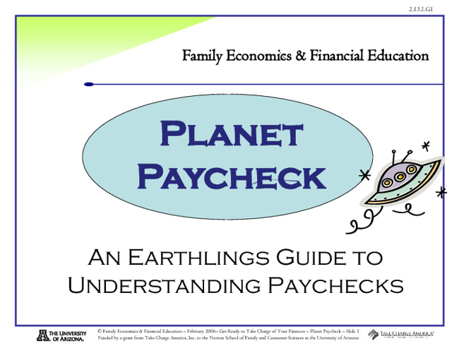 Planet Paycheck Notes