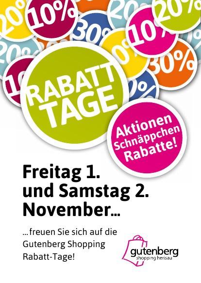 Gutenberg Shopping, Rabatt-Tage