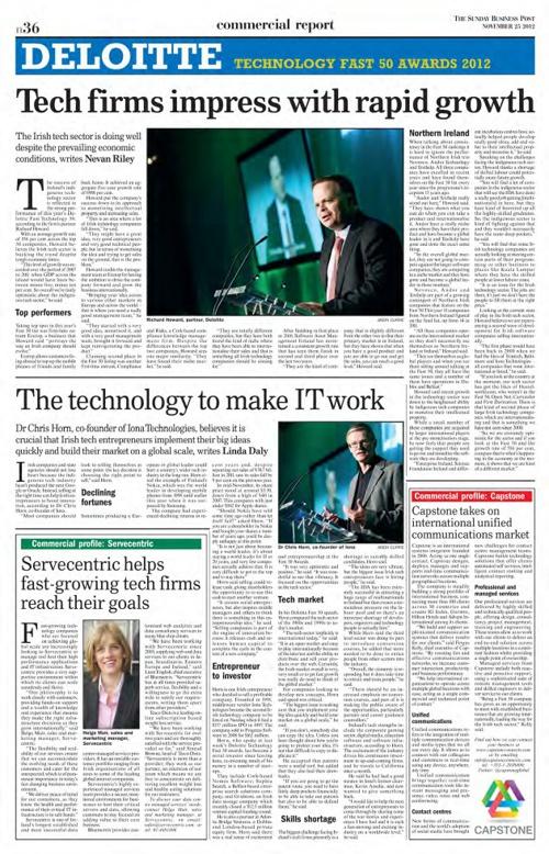 Deloitte Tech Fast 500 Awards 2012