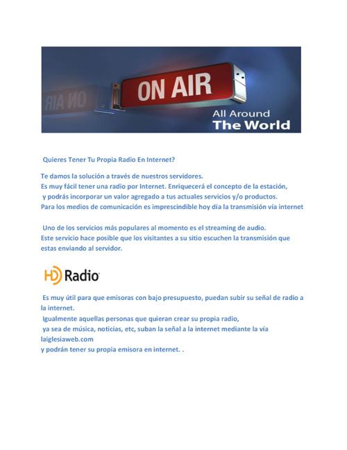 RADIO Y TELEVISION AL AIRE