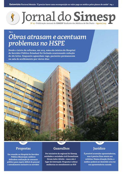 Jornal do Simesp_Agosto_2015