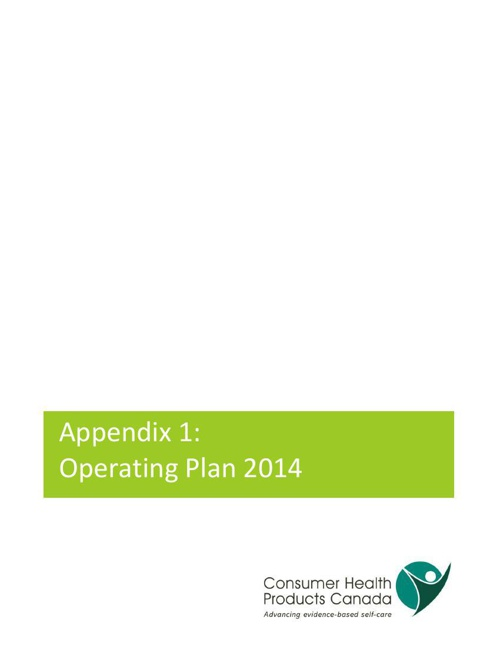Operating Plan 2014 - March Update
