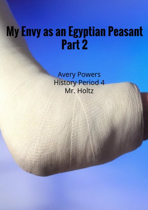 My Envy as an Egyptian Peasant Part 2