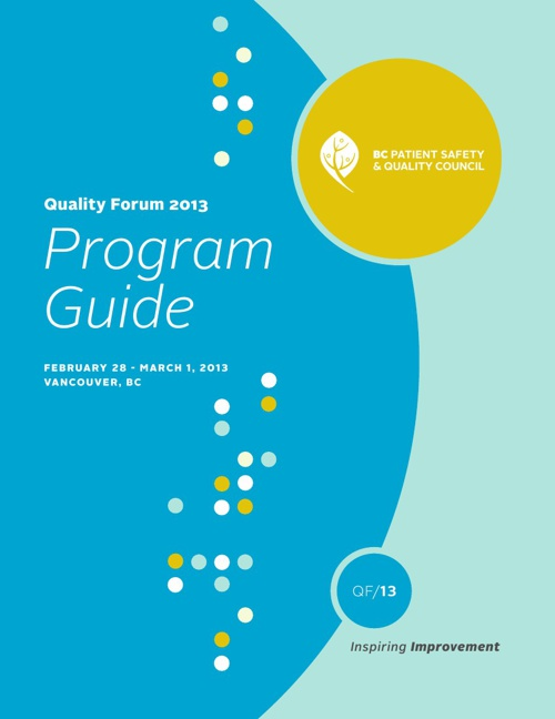 Quality Forum 2013 Program Guide