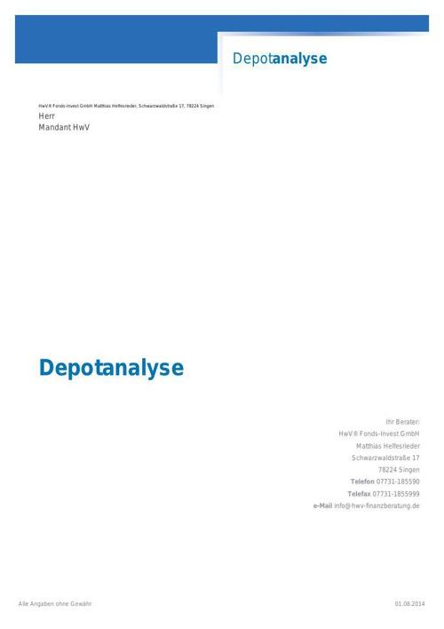 depotanalyse