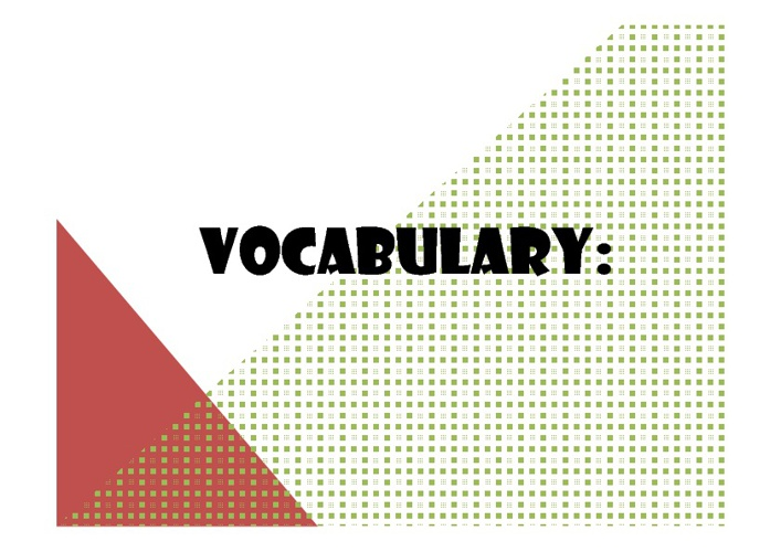 vocabulary # 3