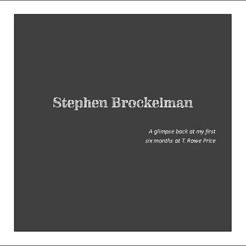 Stephen B.'s TRP Folio