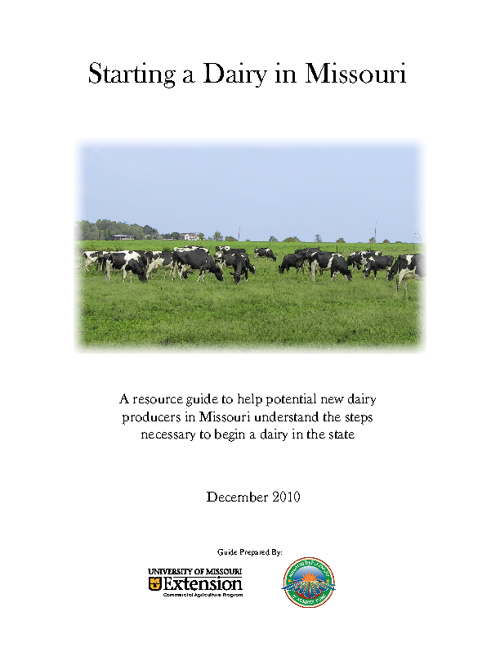 Starting a Dairy in Missouri