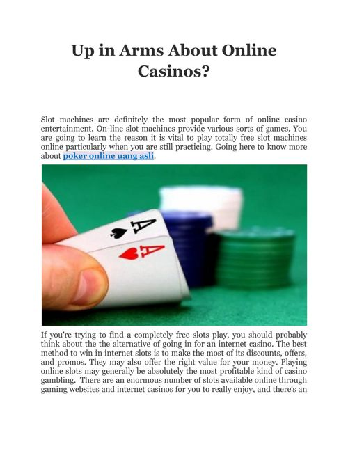 Up in Arms About Online Casinos