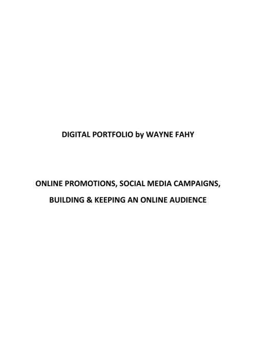 Digital Portfolio - Wayne Fahy