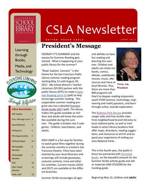 2017_06 CSLA Newsletter