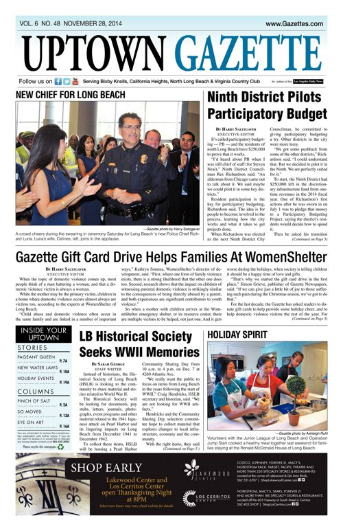 Uptown Gazette     November 28, 2014