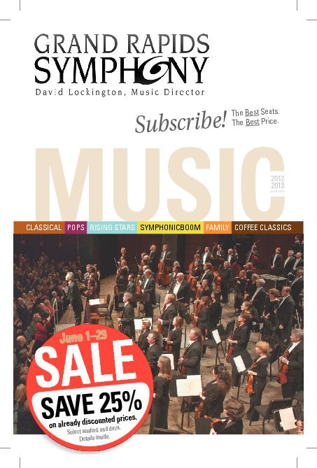 2012-2013 Season Catalog: 25% Sale