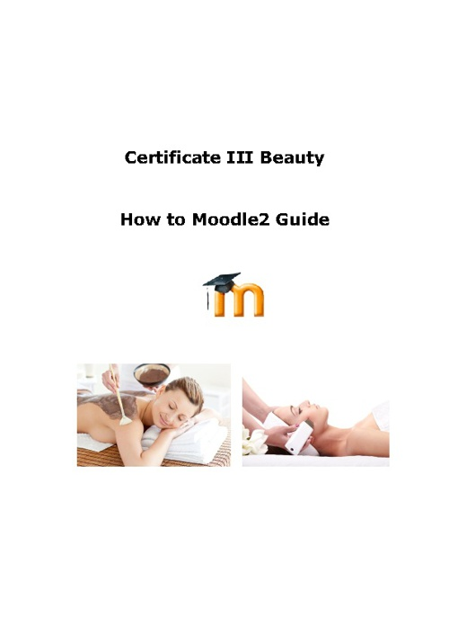 Certificate III Beauty Student Moodle guide
