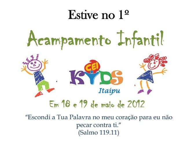 Acampamento Infantil 2012