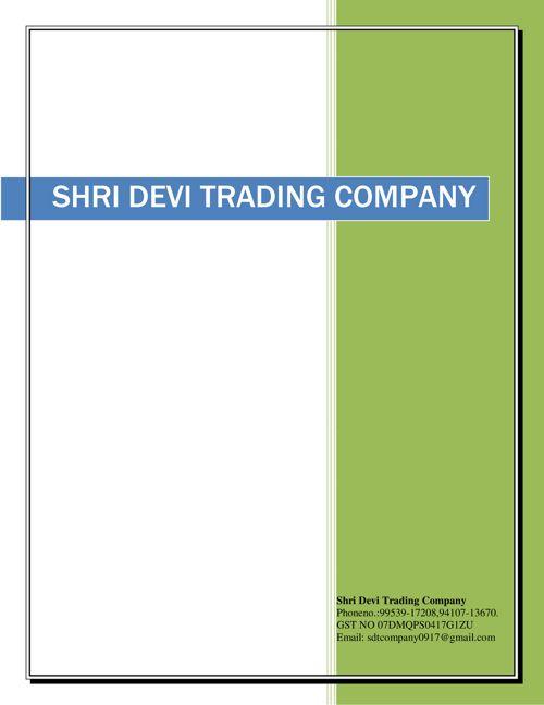 Shri Devi Trading Company Catalogue