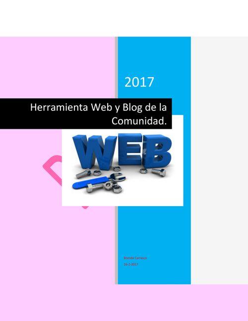 Herramienta Web y Blog de la Comunidad_Brenda