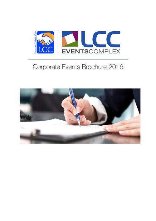 Corporate Events Brochure 2016