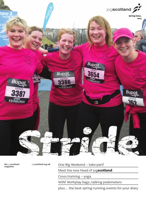 Stride Spring 2013 - the jogscotland members' magazine