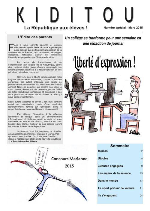 Kiditou version Web : le journal du collège Vauquelin