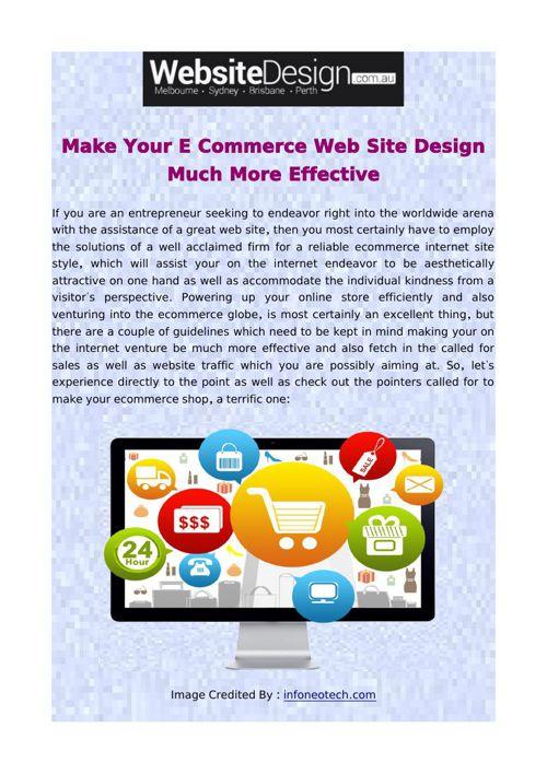 Make Your E Commerce Web Site Design Much More Effective