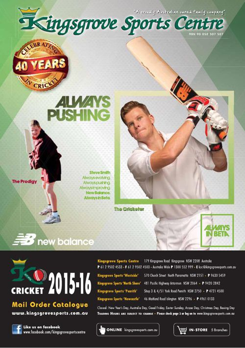 Kingsgrove Sports Centre Cricket Catalogue 2015/16