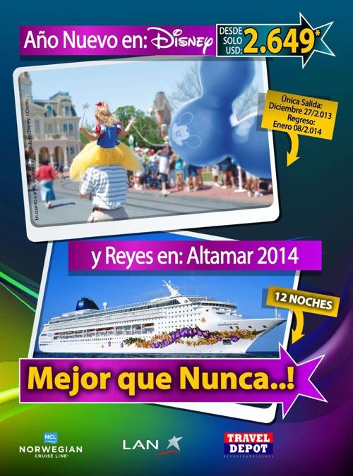 Año Nuevo en Disney y Reyes en Alta Mar 2014