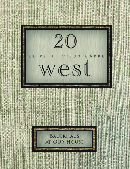 20 West Menus 2016