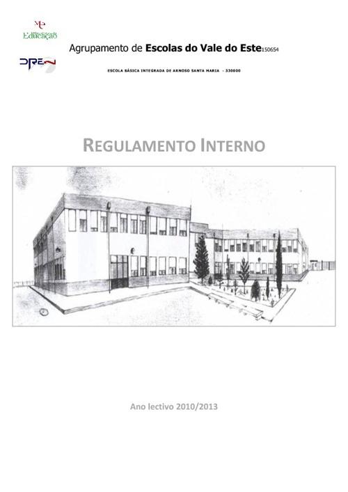 Regulamento Interno atualizado a 28 de Julho de 2011